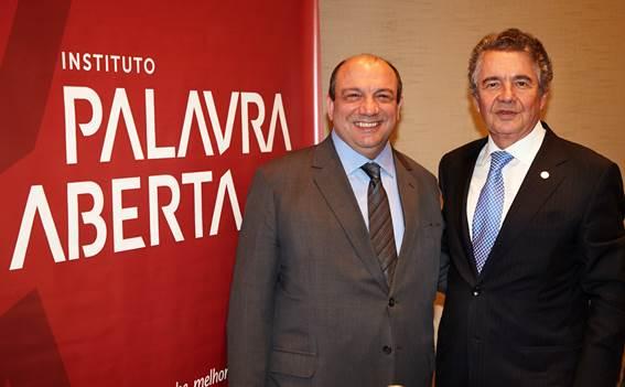 Ênio Vergeiro, Presidente da APP com o Ministro Marco Aurélio Mello (Foto: Arthur Nobre).